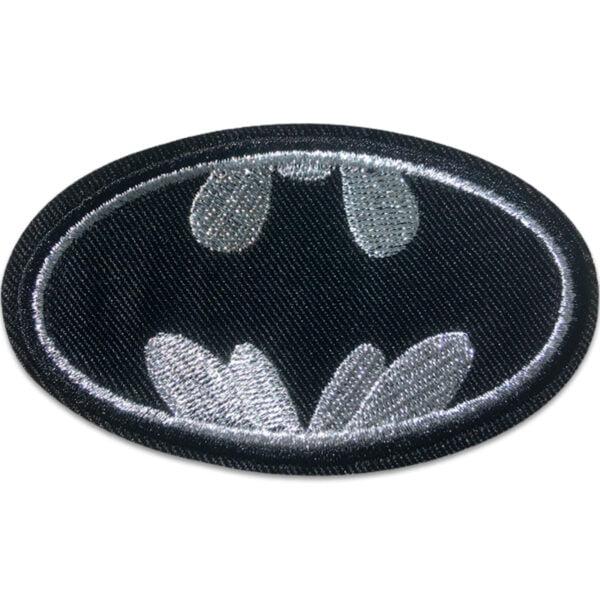 Batman Symbol Silver - tygmärke
