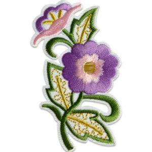 tygmärke blomma gammaldags