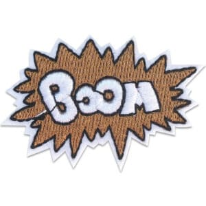 boom emblem - tygmärke