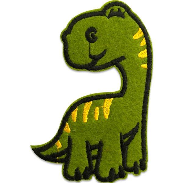 Dinolito Långhals - Dionsaurie med lång hals - tygmärke - patch för barn