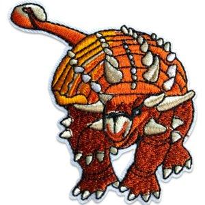 Pansardinosaurie - broderat tygmärke med flera detaljer