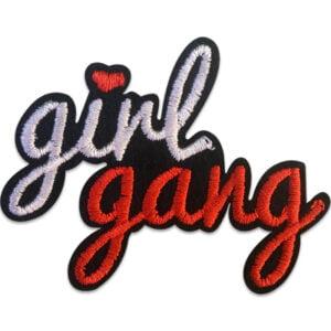 girl gang - broderat tygmärke