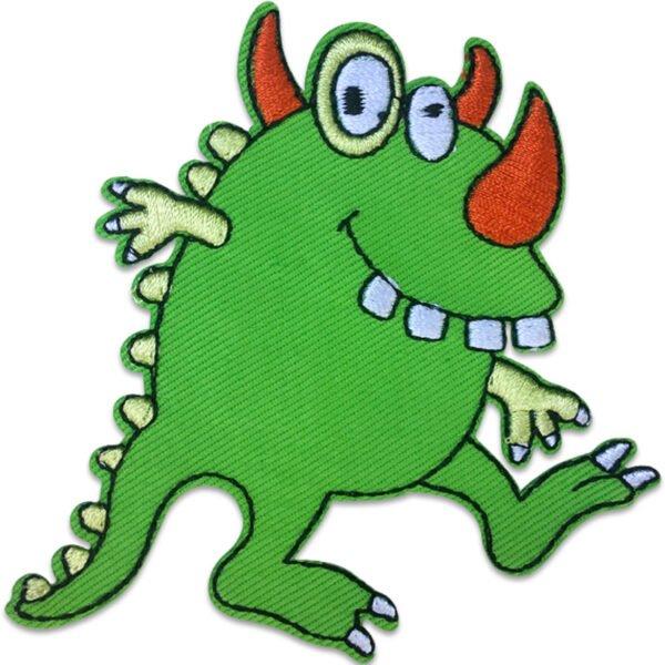 Grönt Monster - Tygmärke - Patches
