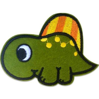 Gullig dinosaurie - Tygmärke/Patch