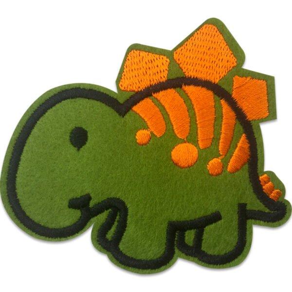 Söt Dinosaurie - Tygmärke - Orange rygg
