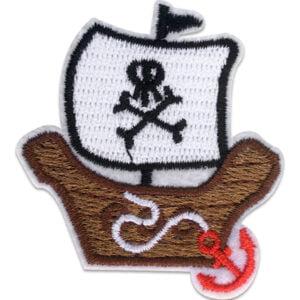 Gulligt piratskepp - tygmärke