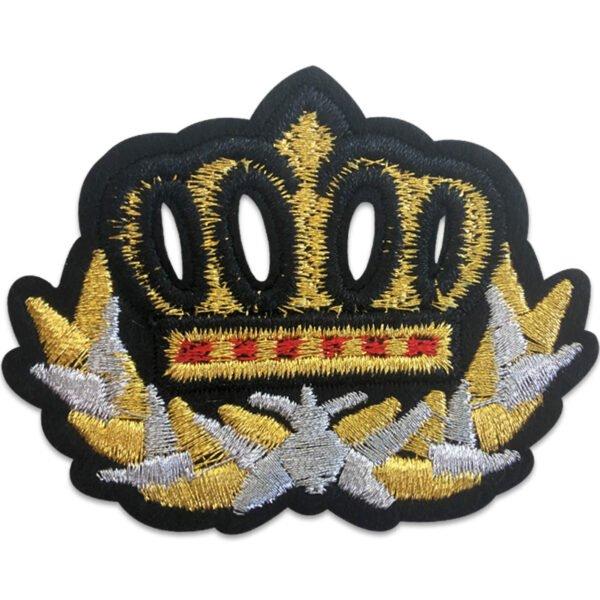 Glimrande krona med krans - tygmärke - Patch