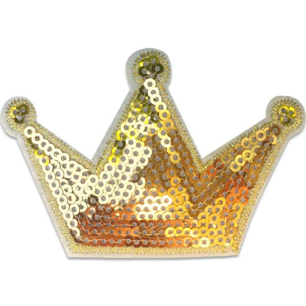 Krona paljetter - tygmärke