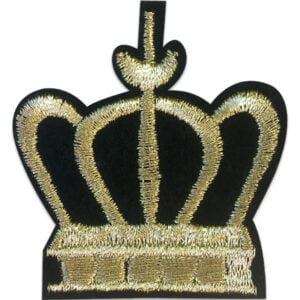 Kungakrona - Tygmärke - Guldfärgad tråd