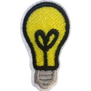 glödlampa - tygmärke