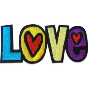 Färgglad Love - Tygmärke/Patch