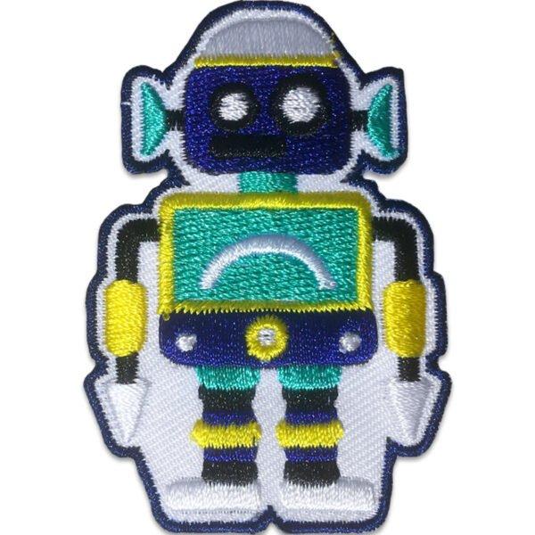 Blå Robot - Gröna Öron - Tygmärke
