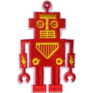 Tygmärke - Röd Robot
