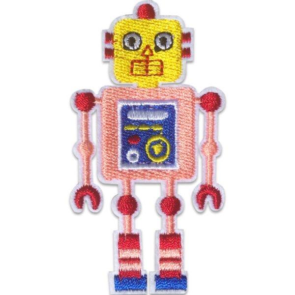 Rosa Robot - Tygmärke - Stryka på
