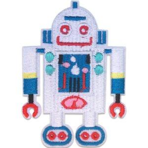Vit Robot Larvfötter - Tygmärke