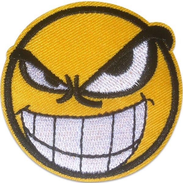 Tygmärke - Tuff Smiley - Vita tänder