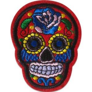 Sugar Skull Röd - Tygmärke