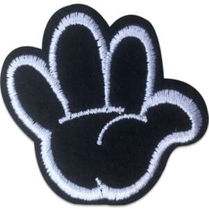 Tygmärke - Svart handske