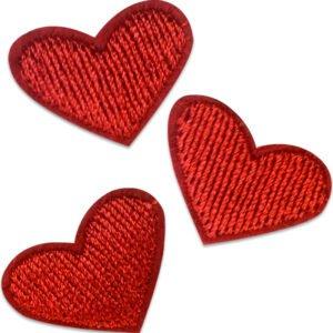 tygmärke - Tre små hjärtan
