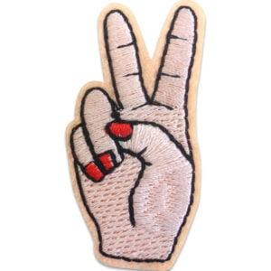 peacetecken hand - tygmärke