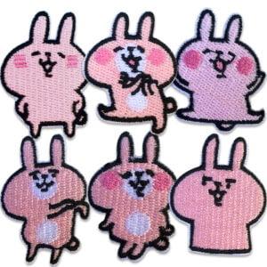 bunny rabbit kaniner - tygmärken