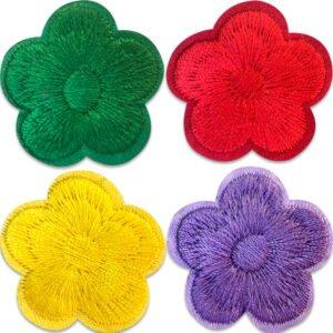 Majblommor fyra färger - tygmärken