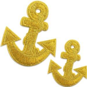 Två Guldankare - tygmärke
