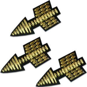 tre guldpilar - tygmärke