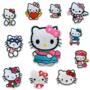Hello Kitty - Samling broderade tygmärken