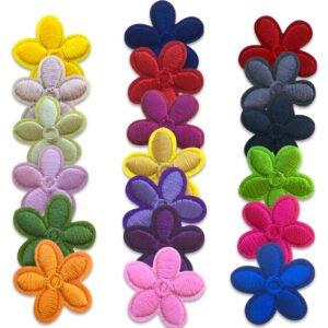 Färggranna blommor - tygmärken