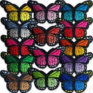 Färgfulla fjärilar - tygmärken