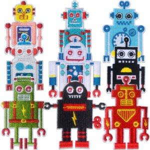 9-pack roliga Robotar - tygmärken