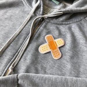 plåster dubbel - tygmärke tröja