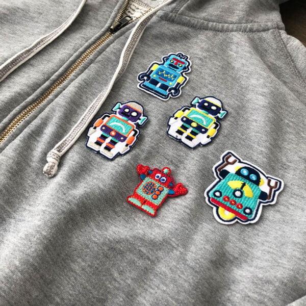 små robotar - tygmärken tröja