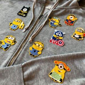 minioner - tygmärken tröja