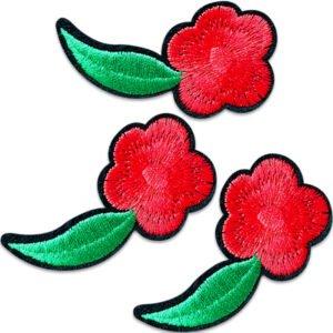 Färska röda blommor - tygmärken