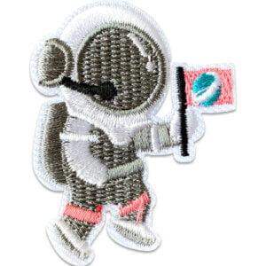 astronaut flagga - tygmärke