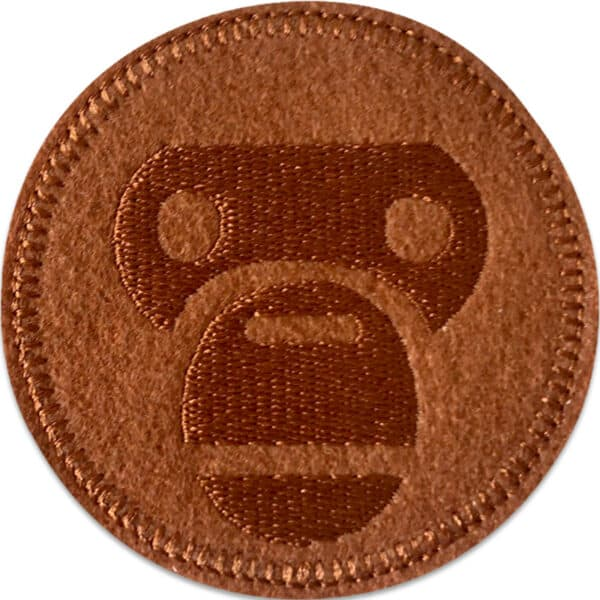 apa monkey patch brun - tygmärke