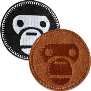 monkey patch brun svart - tygmärken