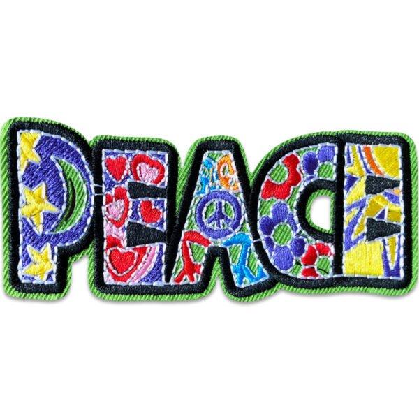 peace hippie - tygmärke