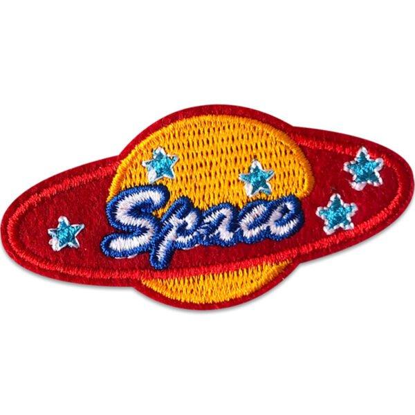 planet space - tygmärke