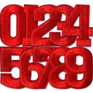 Tygmärken Siffror 0,1,2,3,4,5,6,7,8 och 9