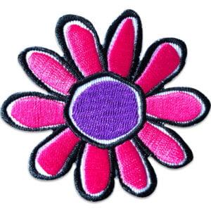 Tygmärke - Tecknad blomma