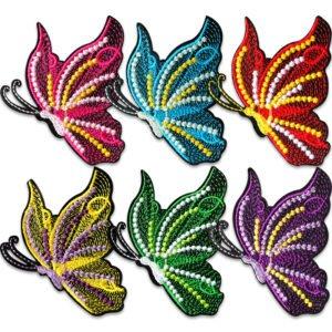 6-pack tygmärken av Fantasifjärilar