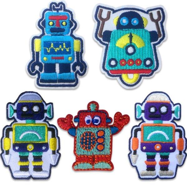 små robotar - tygmärken