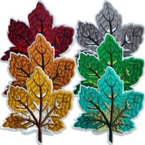 Årstidernas löv - stryka-på tygmärken