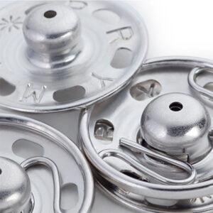 tryckknappar 6-11 mm förnicklade - prym