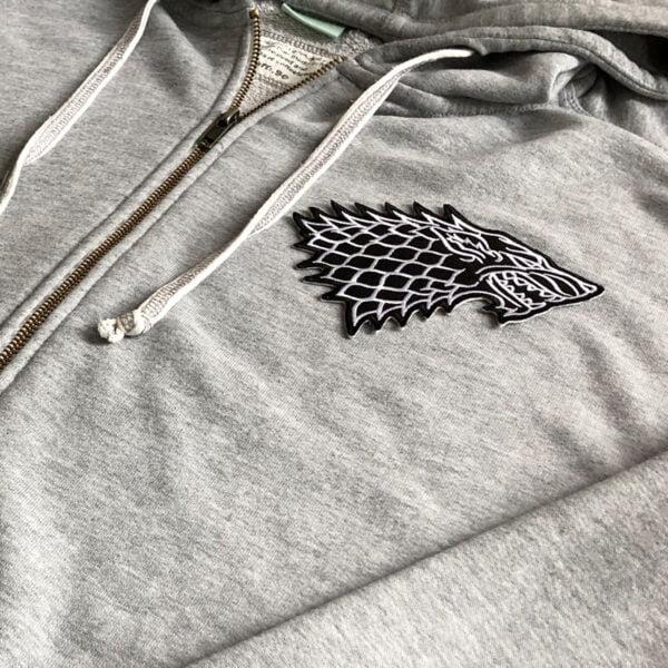 house stark emblem tröja - tygmärke