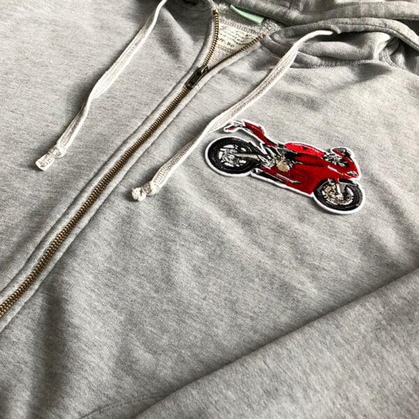 motorcykel röd - tröja