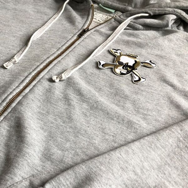 skull and bones sexy tröja - tygmärke